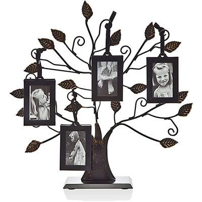 Metal Family Tree Picture Frame